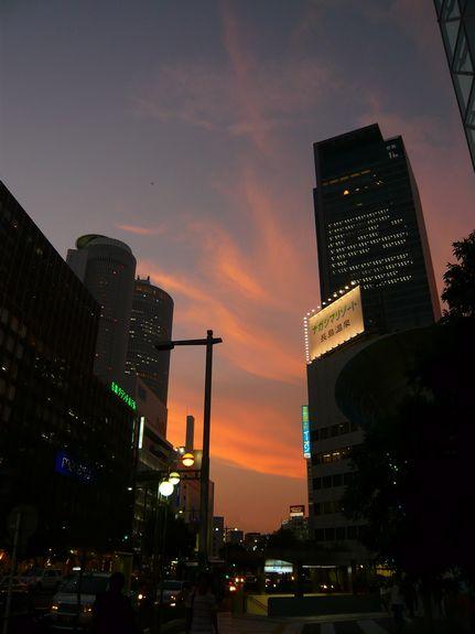 名古屋の夕焼け